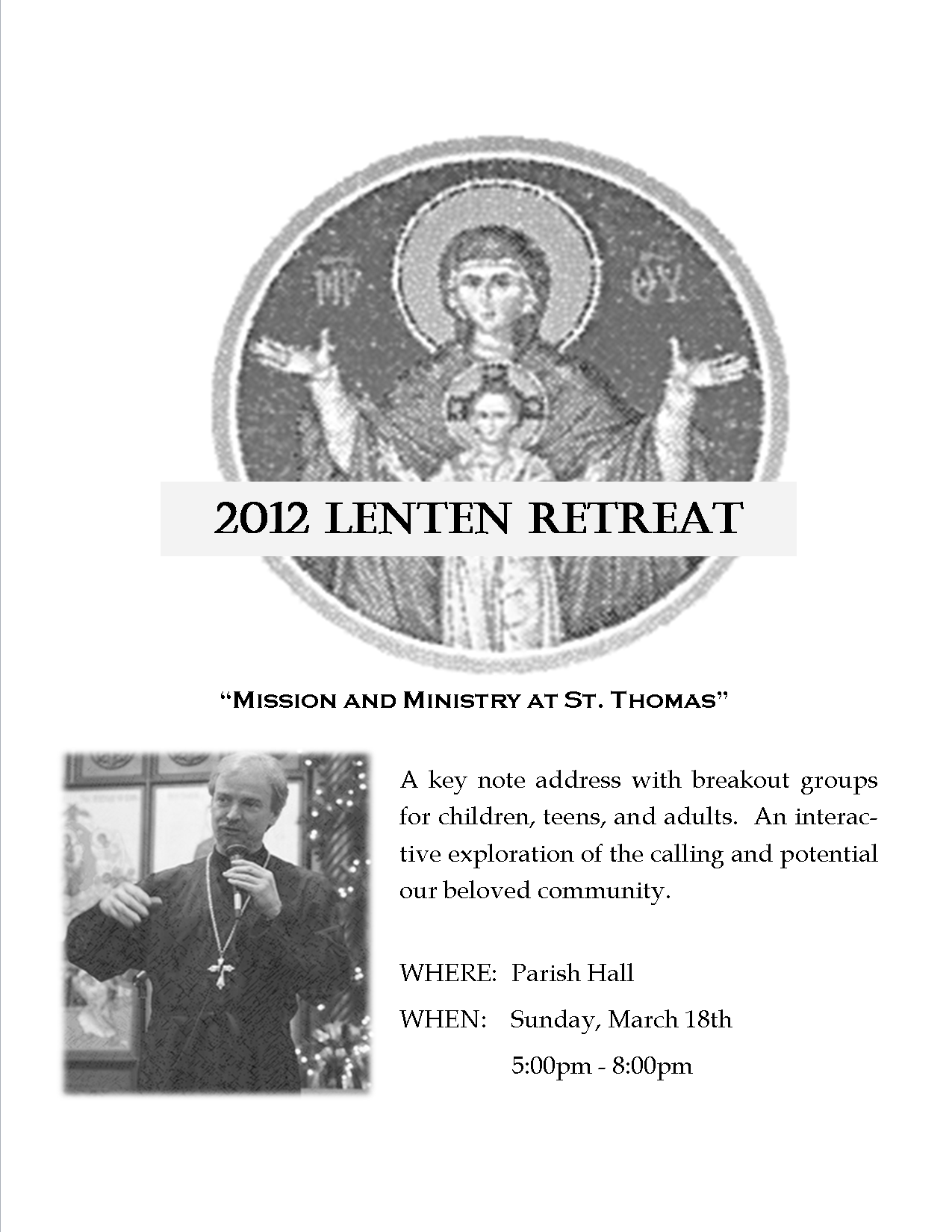 2012 Lenten Retreat
